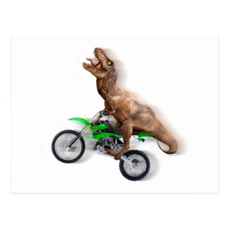 T rex motorcycle - t rex ride - Flying t rex Postcard