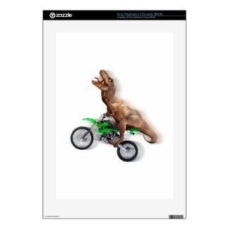 T rex motorcycle - t rex ride - Flying t rex PS3 Decal