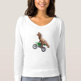 T rex motorcycle - t rex ride - Flying t rex T-shirt