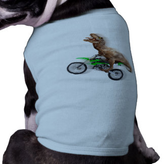 T rex motorcycle - t rex ride - Flying t rex Tee