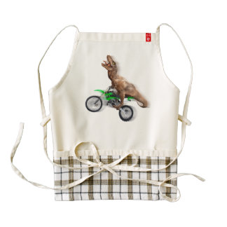 T rex motorcycle - t rex ride - Flying t rex Zazzle HEART Apron