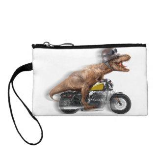 T rex motorcycle-tyrannosaurus-t rex - dinosaur coin wallet