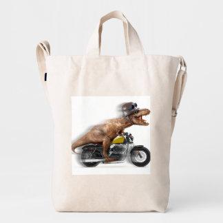 T rex motorcycle-tyrannosaurus-t rex - dinosaur duck bag