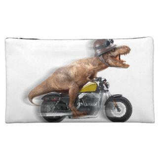 T rex motorcycle-tyrannosaurus-t rex - dinosaur makeup bag