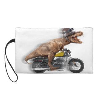 T rex motorcycle-tyrannosaurus-t rex - dinosaur wristlet