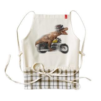 T rex motorcycle-tyrannosaurus-t rex - dinosaur zazzle HEART apron