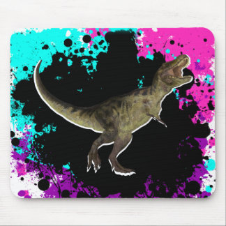 T-Rex Multi-Colored Splatter Mouse Pad