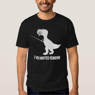 T-Rex odia cercar la camiseta oscura Remera