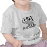 T-Rex odia el niño de los pectorales $17,95 Camisetas