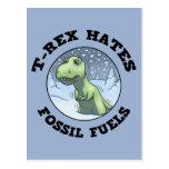 T-Rex odia fósiles Tarjeta Postal
