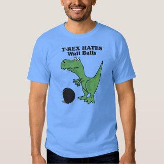 T-rex odia la bola de la pared poleras