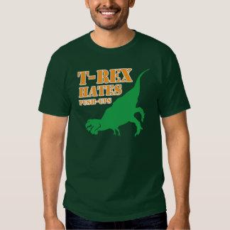 T-Rex odia la camiseta de los pectorales