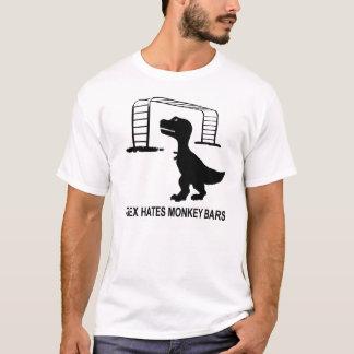 T-Rex odia la camiseta ligera de las barras de