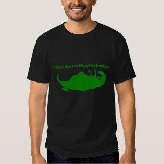 T-rex odia la camiseta oscura del Masturbation Camisas