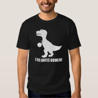 T-Rex odia la camiseta oscura que rueda