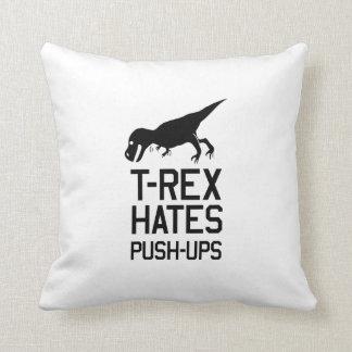 T-Rex odia pectorales Cojín Decorativo