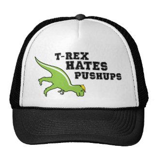 T-rex odia pectorales gorro de camionero