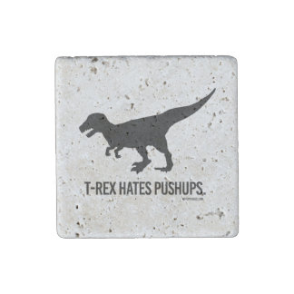 T-rex odia pectorales imán de piedra
