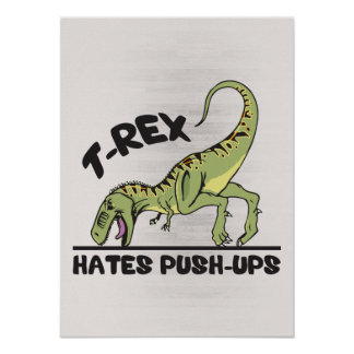 T-Rex odia pectorales Impresiones