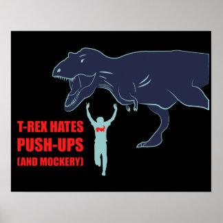 T-Rex odia pectorales y el poster de la mofa