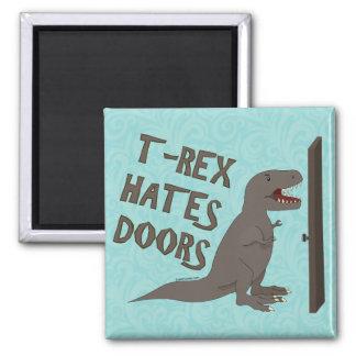 T-Rex odia puertas Imán Cuadrado