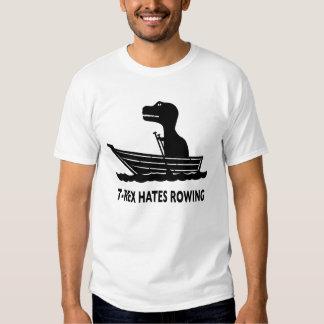 T-Rex odia remar la camiseta Playera