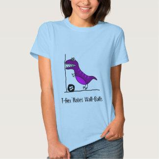 T-Rex odia Wallballs Camisas