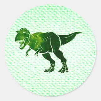 T-Rex on Textured Look Classic Round Sticker