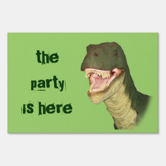 T-Rex Party Yard Sign