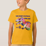 """T-Rex Personalized Birthday Tshirt<br><div class=""""desc"""">Amazing Roaring T-Rex Birthday T-shirt.  Personalize it with your name and age.</div>"""