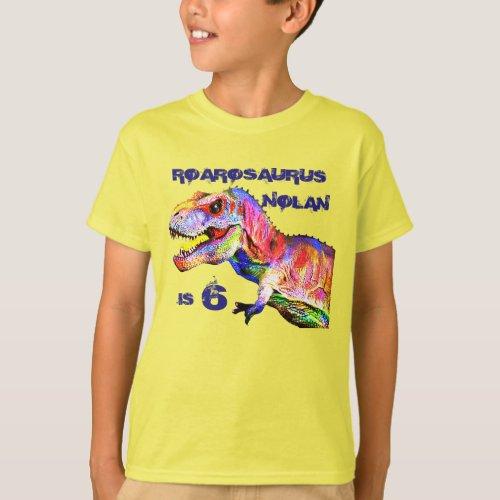 T_Rex Personalized Birthday Tshirt