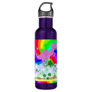T-Rex Pixel Dinosaur Water Bottle