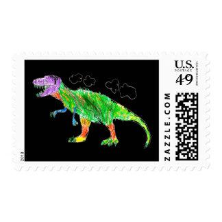 T-Rex Postage Stamp