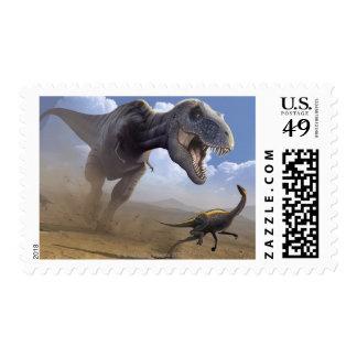 T Rex Postage Stamp