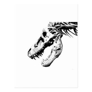 t-rex postcard
