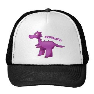T-Rex púrpura Gorro