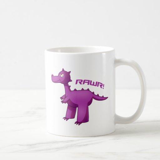 T-Rex púrpura Taza Clásica