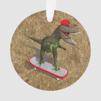T-Rex que anda en monopatín