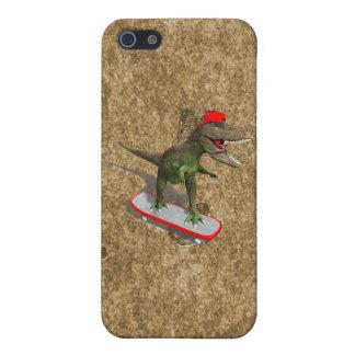 T-Rex que anda en monopatín iPhone 5 Fundas