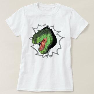 T-Rex que revienta fuera de la camiseta