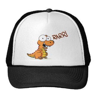T-rex que ruge gorras de camionero