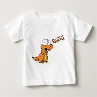 T-rex que ruge playera de bebé