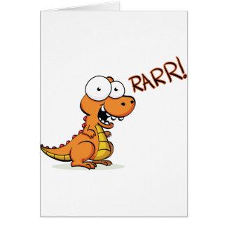 T-rex que ruge felicitación