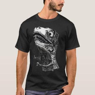 T-Rex Rage Meme - 2-sided Black T-Shirt
