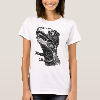 T-Rex Rage Meme - 2-sided Ladies Fitted T-Shirt