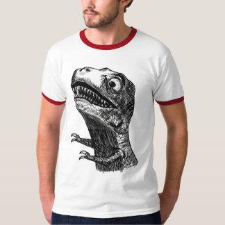 T-Rex Rage Meme - 2-sided Ringer T-Shirt