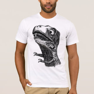 T-Rex Rage Meme - Fitted T-Shirt