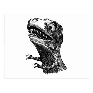 T-Rex Rage Meme - Horizontal Postcard