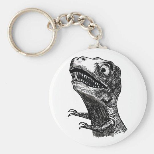 T-Rex Rage Meme - Keychain