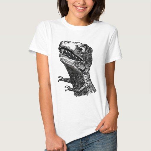 T-Rex Rage Meme - Ladies Fitted T-Shirt